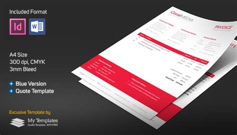 Adobe Indesign Sales Template Free Invoice Quote Template Word Indesign Linkedin