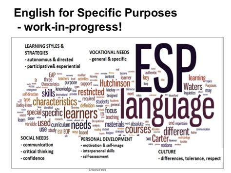 Eanglish For Special Purposes understanding new learners and reconsidering learning pathways teac