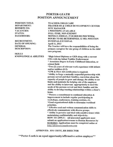 Child Care Attendant Cover Letter by Day Care Worker Cover Letter Investors Contract Agreement