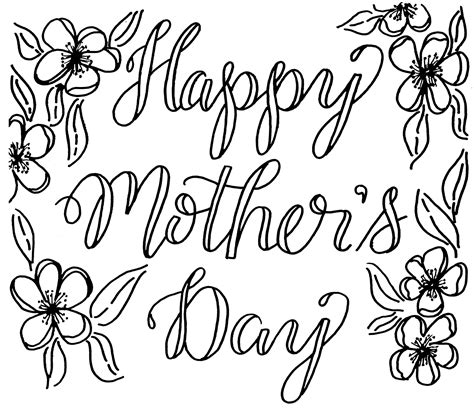 S Day Drawing Free Mother S Day Coloring Card Creates