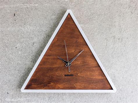 Wall Clock Handmade - quot big romb bicolor quot wall clock 30x30cm 12 quot x12 quot by paladim