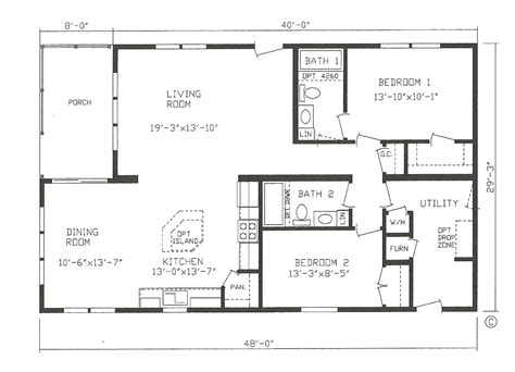 2 bedroom modular home floor plans the pike bay st cloud mankato litchfield mn lifestyle homes