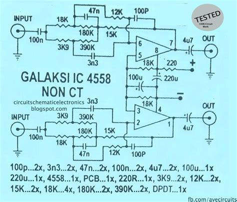 Pcb Tone Stereo Tr Plus Subwoofer Jrc4558 ic 4558 galaksi circuit electronic circuit