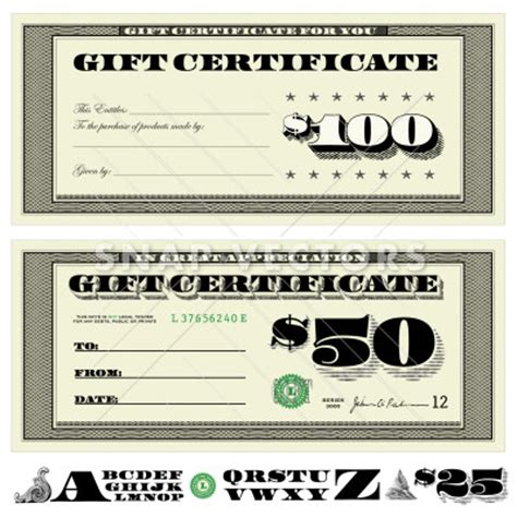 money gift card template vector money gift certificate set snap vectors