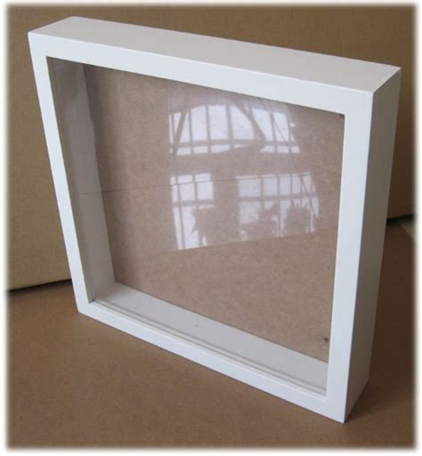 white wooden square shadow box frame new design buy