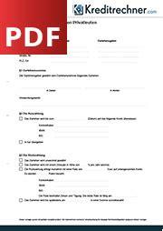 privatkreditvertrag vordruck der darlehensvertrag definition und muster als pdf