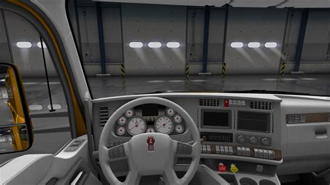 kenworth truck interior kenworth t680 white gauges truck interior v1 2