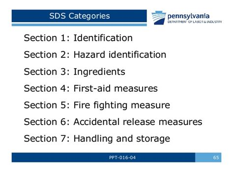 sds 16 sections hazard communication training by pa l i