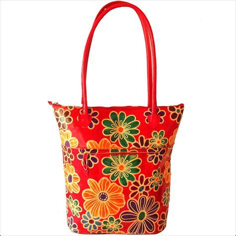 boho floral tote bag zint leather goods