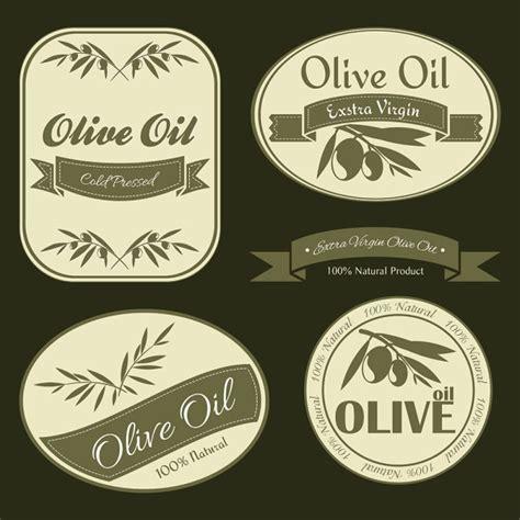 Olive Oil Vintage Labels Vector Vector Food Free Download Olive Labels Templates