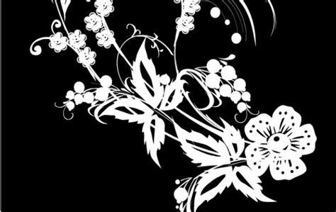 imagenes blancas en fondo negro negro y decoraci 243 n de flores blancas descargar vectores