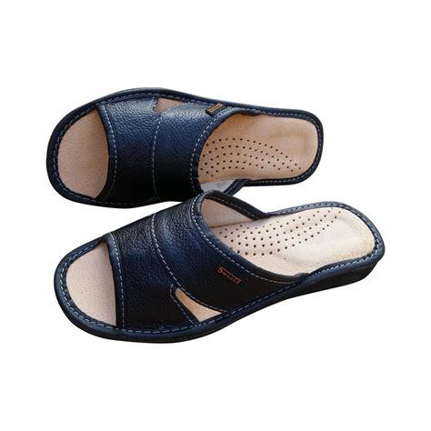 slide on slippers s leather slip on slides mules flats us size