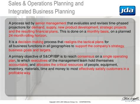 Jda Enterprise Planning by How To Keep S Op From Getting Quot Stuck Quot Oliver Wight Jda