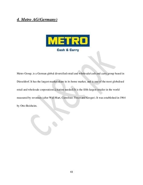 authorization letter format metro carry project report on retail management