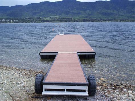 floating boat dock wheels floating docks here s a floating dock on wheels fo