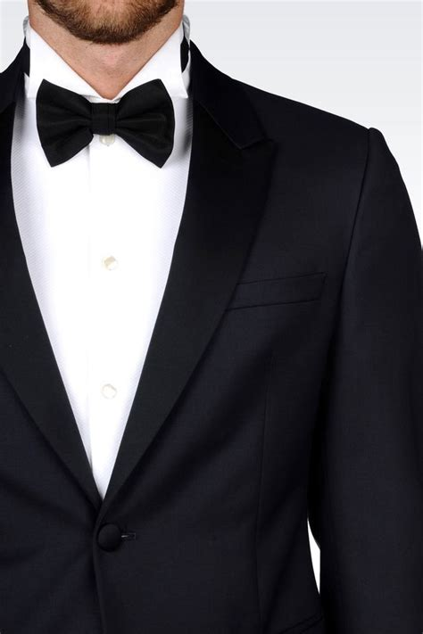 emporio armani tuxedo in worsted wool in for men lyst