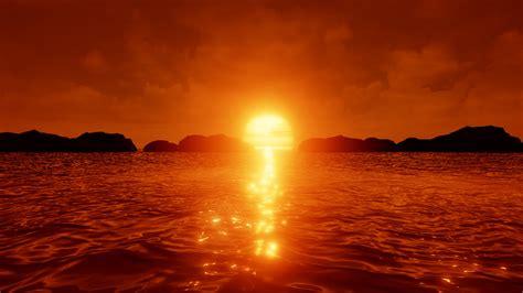 wallpaper sunset reflections hd  nature