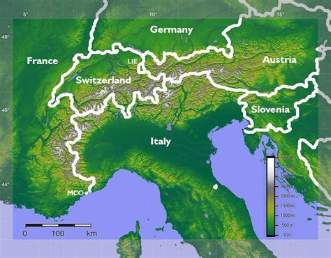 alps mountains map mountains primary school geography encyclopedia