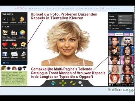 online hairstyle simulator free probeer kapsels online upload uw foto virtuele