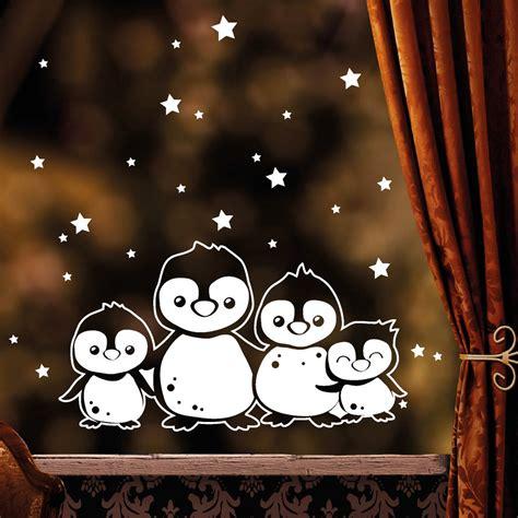 Fensterdeko Frohe Weihnachten by Fensterbild Pinguine Wandtattoo