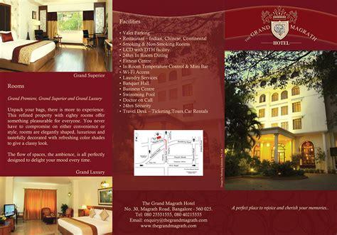 design flyer hotel hotel brochure design on behance