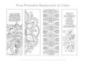 bookmarks to color free printable bookmarks to color