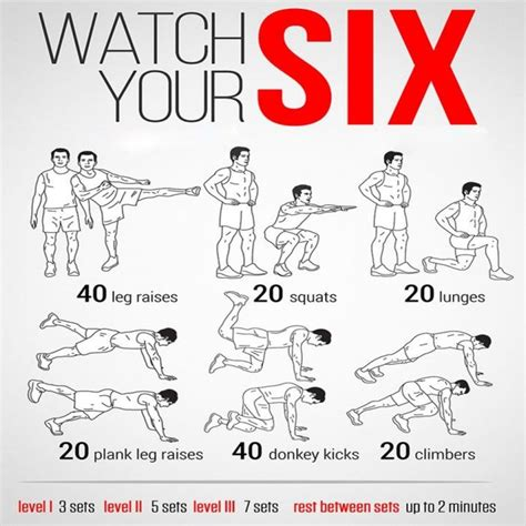 your six health fitness sixpack routine plan abs power and workout workout
