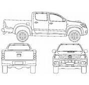 CAR Blueprints  Toyota Hilux VI Double Cab