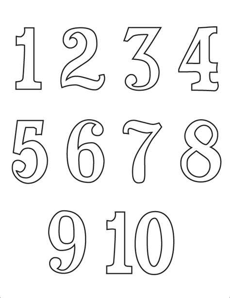 coloring pages for numbers 1 10 template for numbers 1 10 images