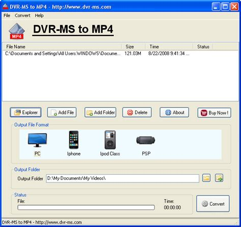 how to convert wtv to mp4 or any other video formats dvr ms to mp4 converter for ipod iphone psp itouch pre