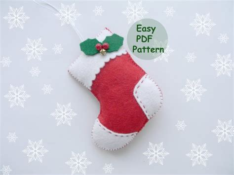 pdf pattern felt easy ornaments