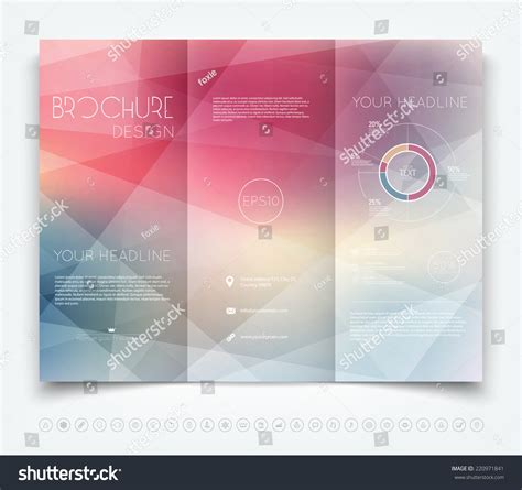 background brochure templates vector modern trifold brochure design template stock