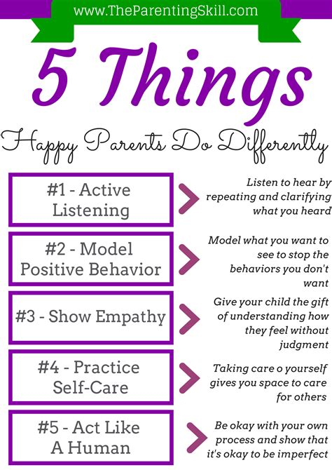 5 Things To Be Happy About by 5 Things Happy Parents Do Differently The Parenting Skill