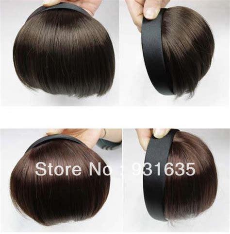 invisable hair extension band wig piece invisible false fringe headband hair bands bangs