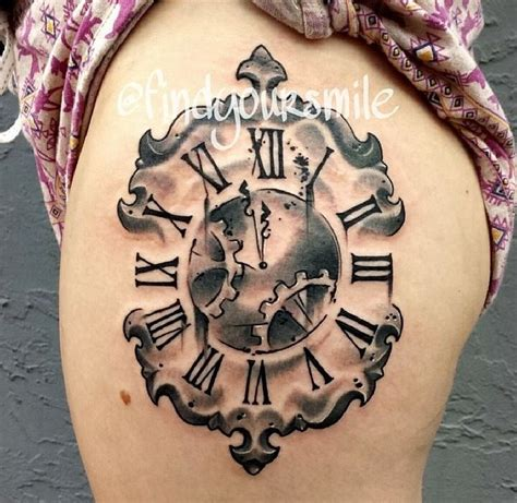 time clock tattoos clock time time