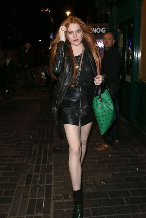 Lindsay Lohan Leaving A Club lindsay lohan out style leaving the firehouse club