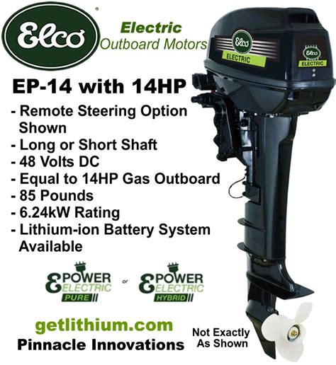 elco marine electric motors elco motor yachts ep 14 48 volt 14 hp electric outboard