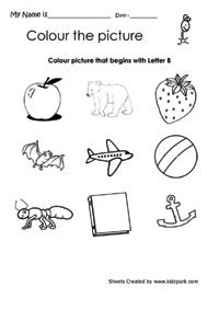 color that begins with a color the picture that begins with letter b