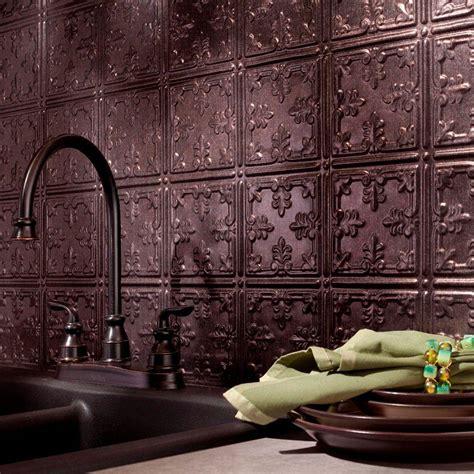 fasade kitchen backsplash panels fasade 24 in x 18 in traditional 10 pvc decorative backsplash panel in smoked pewter b57 27