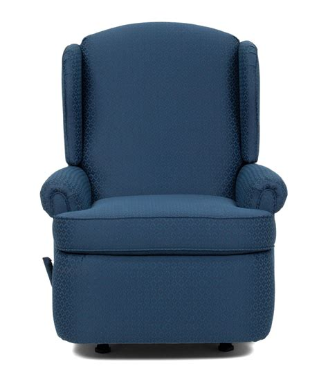 navy blue rocker recliner barcalounger florence custom choice rocker recliner chair