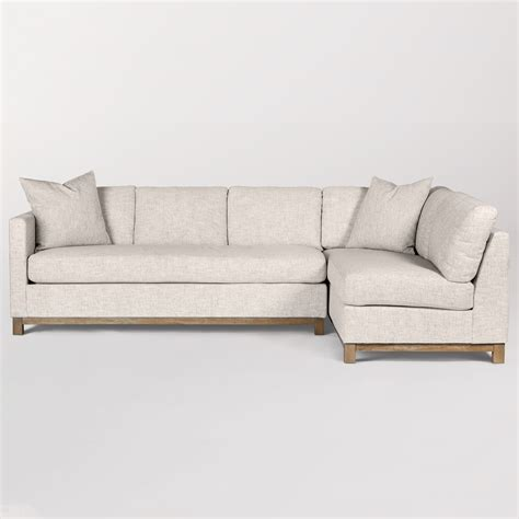 right arm facing sectional clayton sectional right arm facing alder tweed furniture