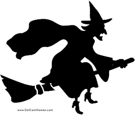 witch on broom pattern free pumpkin carving patterns