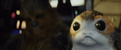 wars the last jedi chewie and the porgs books the screaming porg from last jedi trailer was made to look