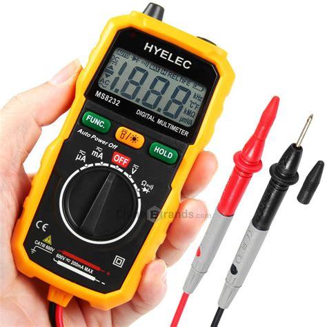 Multitester Mini Digital hyelec ms8232 non contact mini digital multimeter dc ac voltage current tester in multimeters