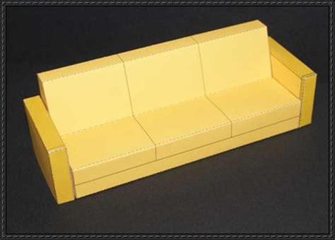 paper craft furniture paper crafts for a simple sofa free furniture paper