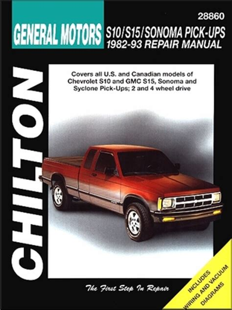 service repair manual free download 1993 gmc sonoma club coupe head up display chevrolet s10 gmc s15 sonoma syclone repair manual 1982 1993