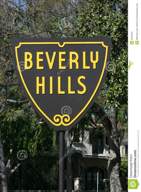 beverly hills sign beverly hills sign stock photo image of star money