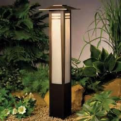 outdoor lights kichler 15392oz zen garden 12v landscape bollard light