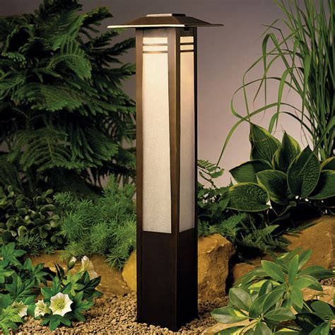 house lighting kichler 15392oz zen garden 12v landscape bollard light