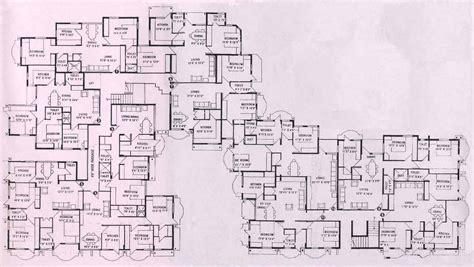 playboy mansion floor plan big luxury home plans